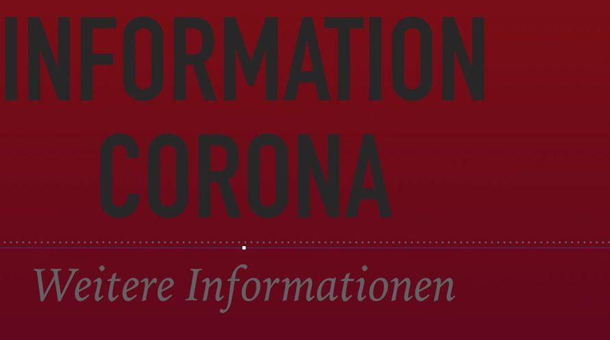 Information über das Vorgehen nächste Woche NEU 14.3. 13:30 Uhr!