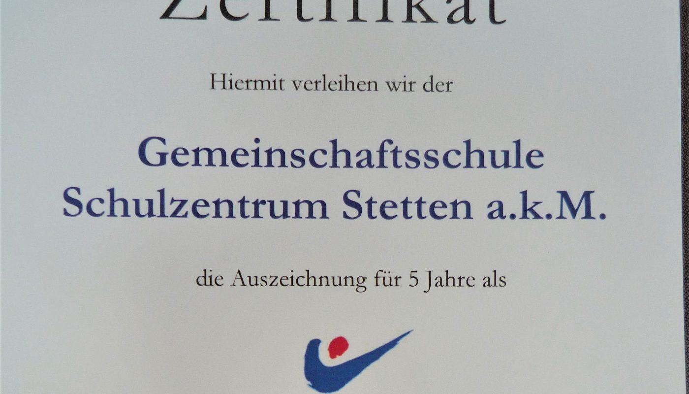 Schulzentrum Stetten a.k.M. erhält begehrte Auszeichnung